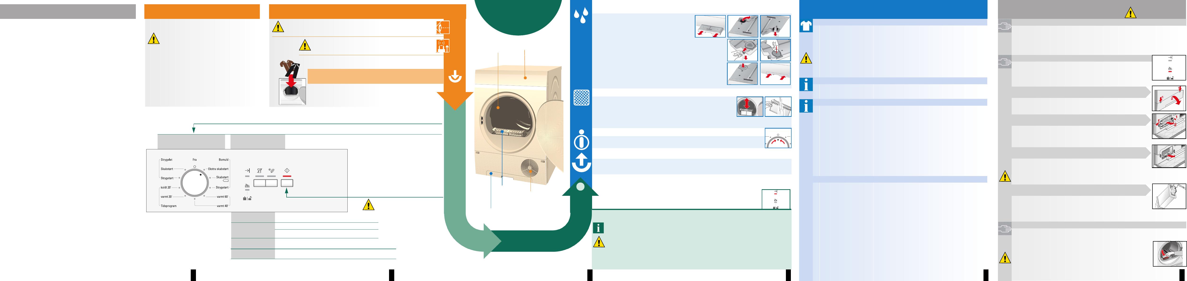 Manual Siemens IQ100 WT44C101DN (Dansk - 8 sider)